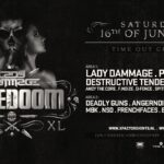 FOTO'S 2018-06-16 – COREDOOM XL – LADY DAMMAGE SOLO PARTY – TIME OUT