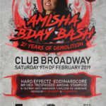 FOTO'S 2019-02-09 – DJ AMISHAS B-DAY – 27 YEARS OF DEMOLITION – BROADWAY